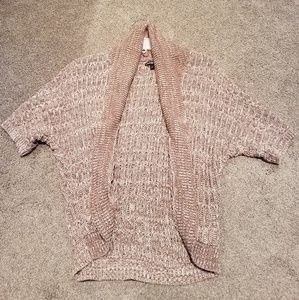 Light brown and white sweater